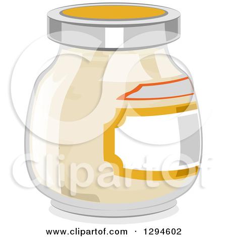 Clipart of a Jar of Mayonnaise.