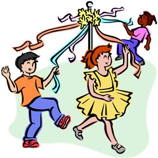 May Pole Clipart.