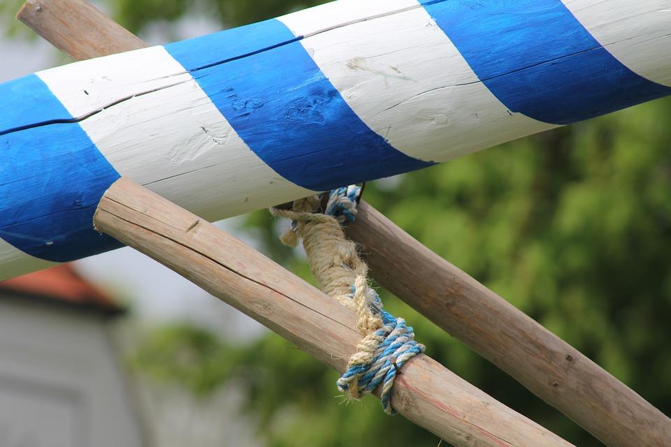 Free photo Setting Up Maypole Set Up Maypole.