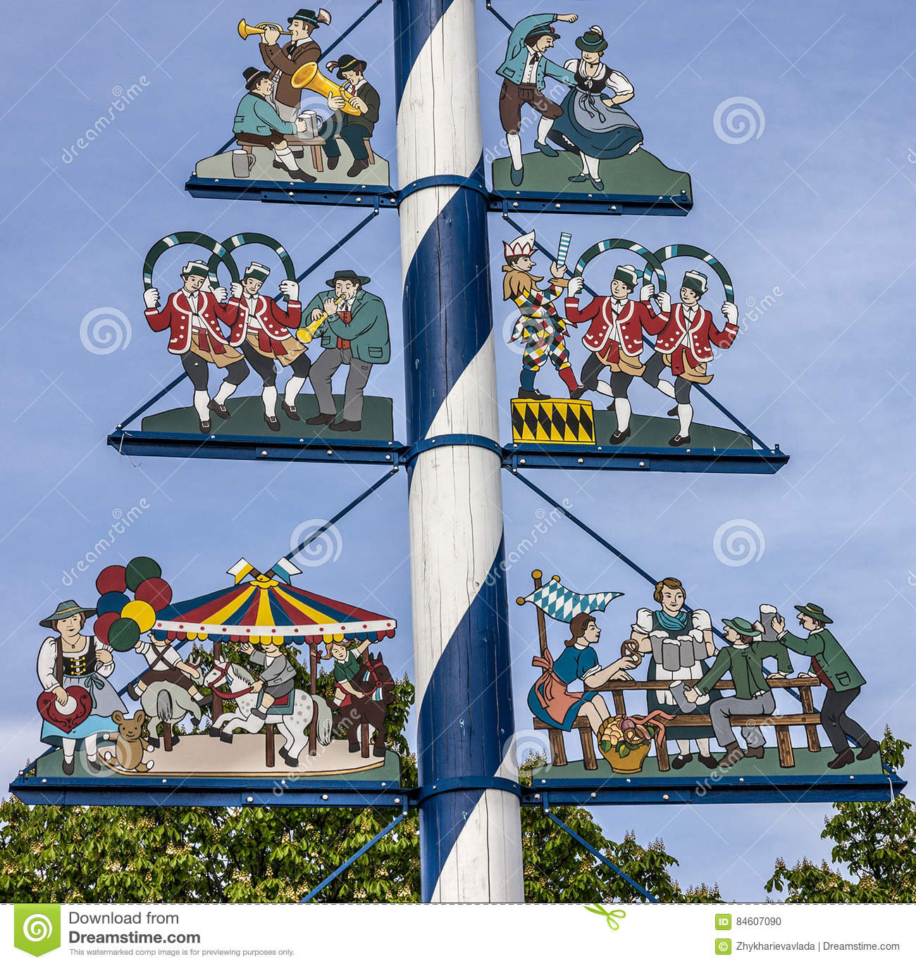 Maypole Germany Stock Photos, Images, & Pictures.
