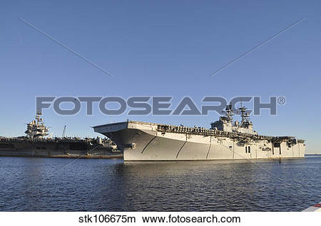 Stock Photo of USS Bataan arrives at Naval Station Mayport.