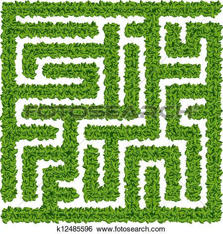 Clip Art of Vector illustration of maze k8278999.