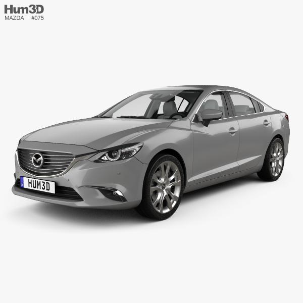 Mazda 6 GJ sedan with HQ interior 2015 3D model.