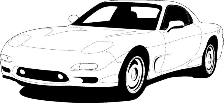 Mazda rx7 clipart.