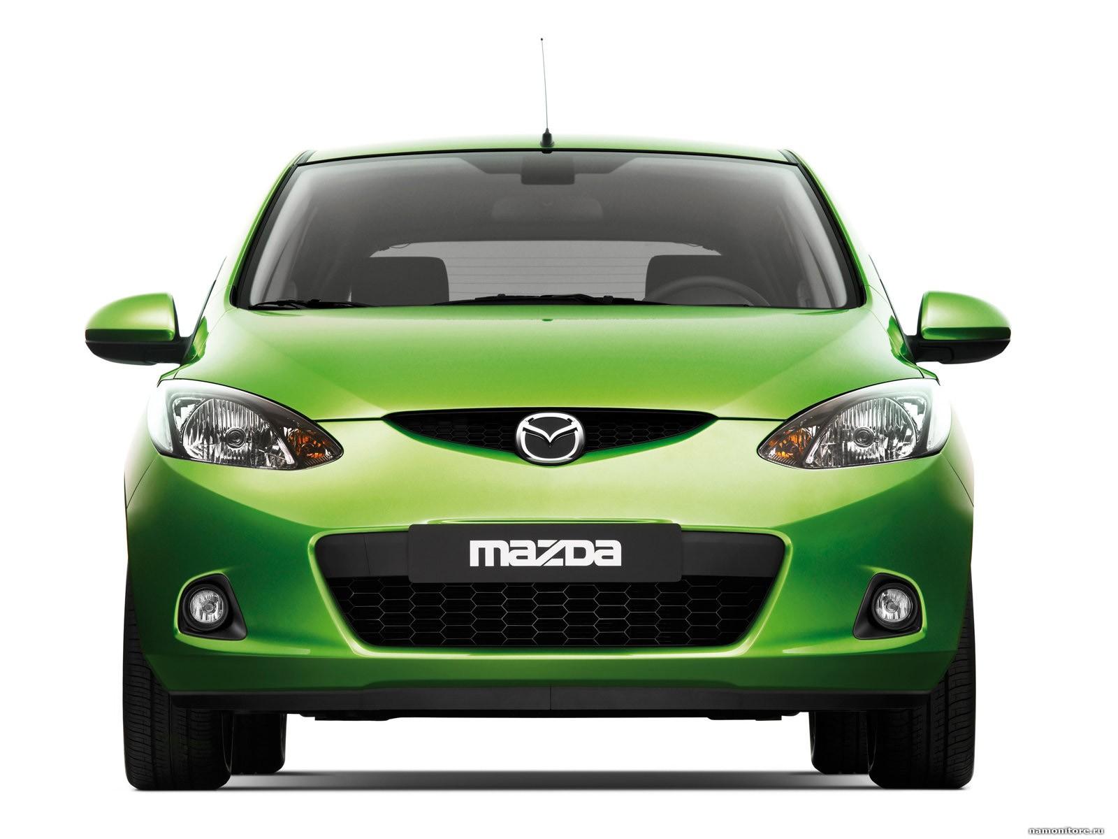 Mazda 2 photo, cars, clipart, green, Mazda, technics.