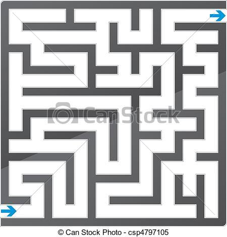 Maze clipart #10