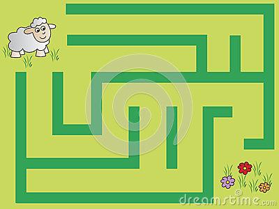 Easy maze clipart.