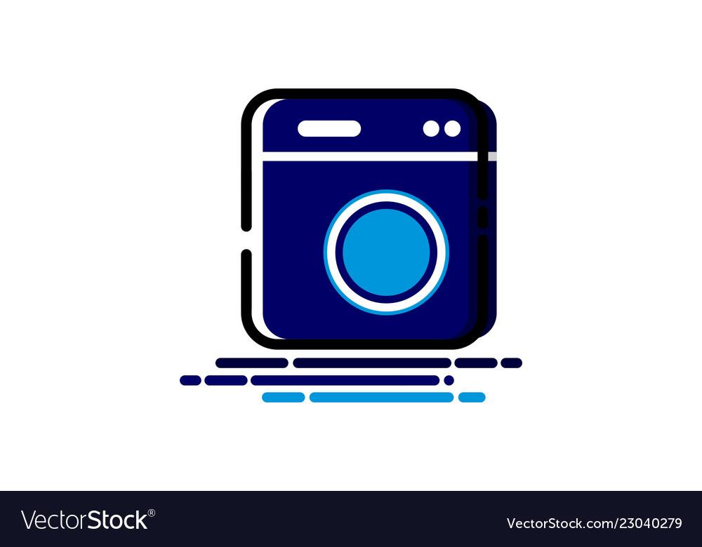 Laundry machine mbe style logo.