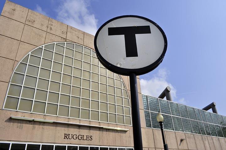 Ruggles Station: MBTA Logo.