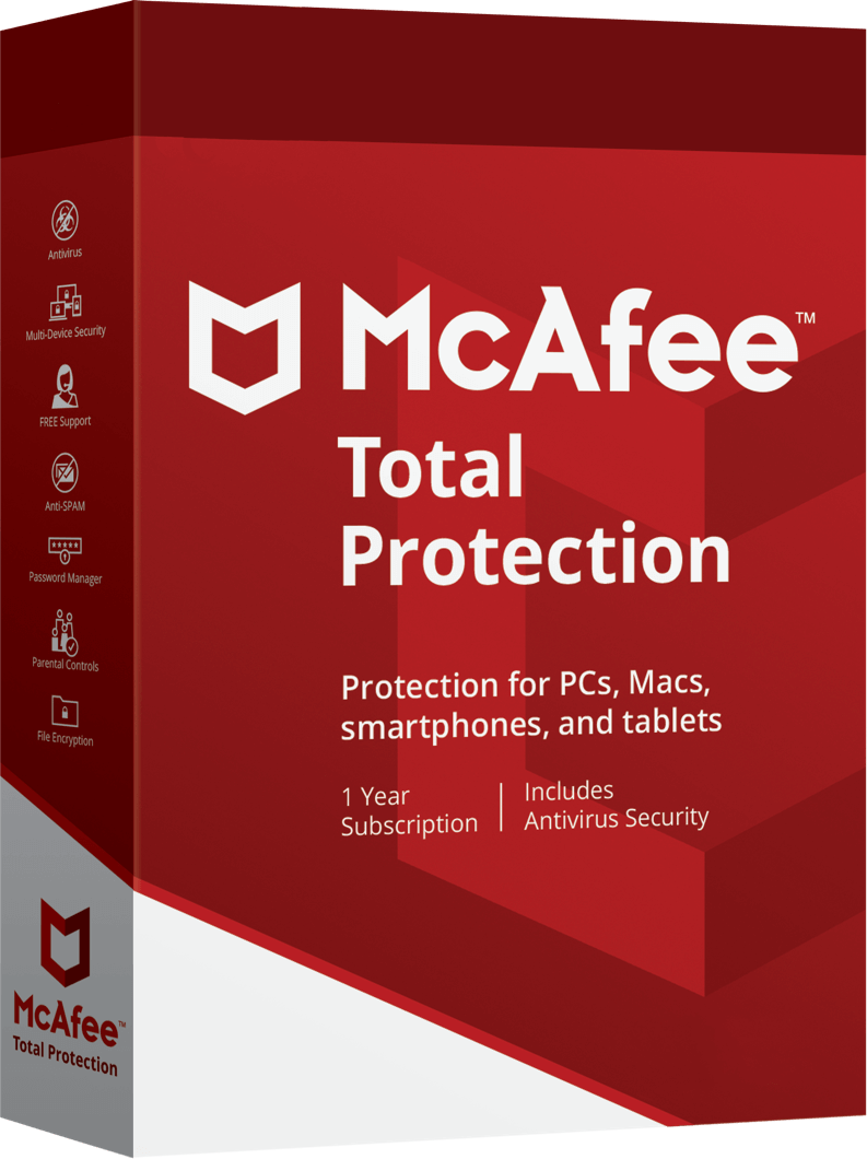 McAfee Total Protection 60% Discount.
