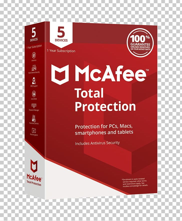 Mcafee Total Protection Antivirus Software Computer Software.