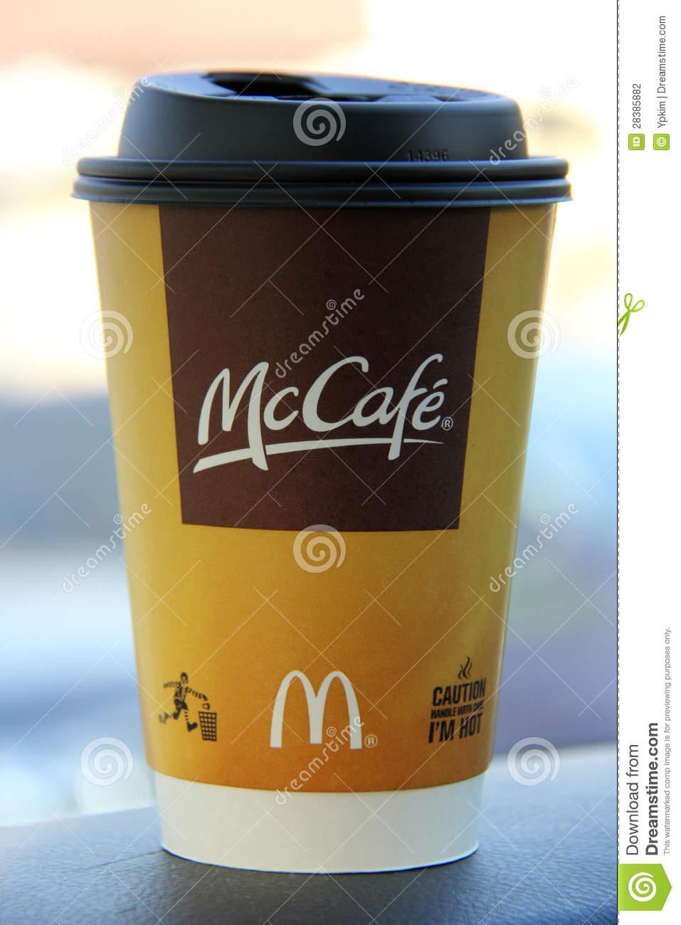 McDonald's McCafe Editorial Photography.
