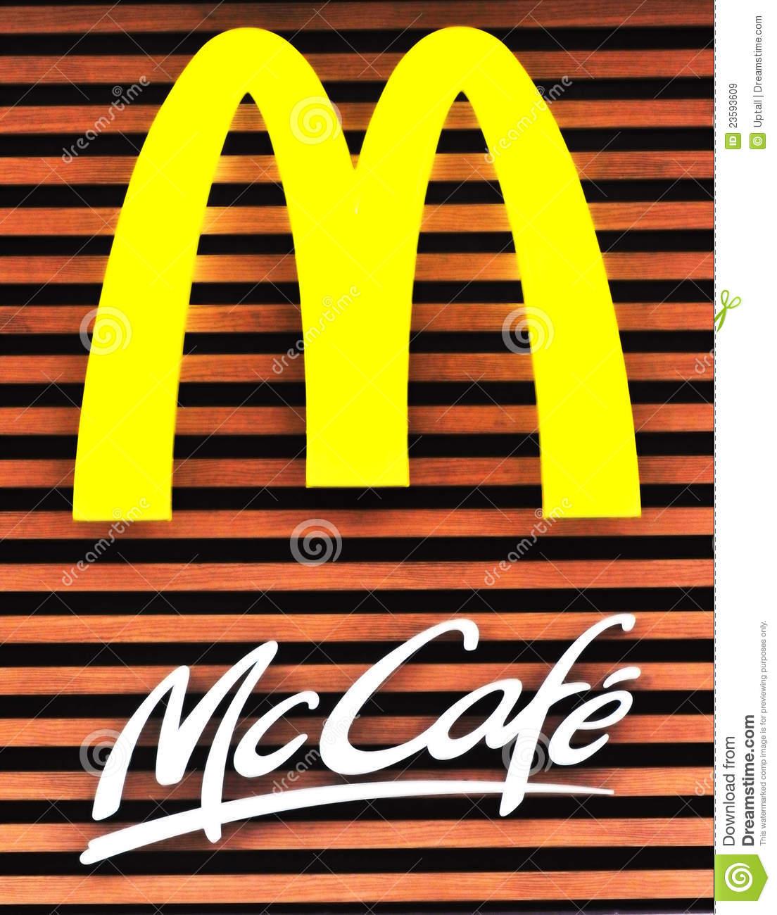 Mcdonald's Mccafe Editorial Stock Image.
