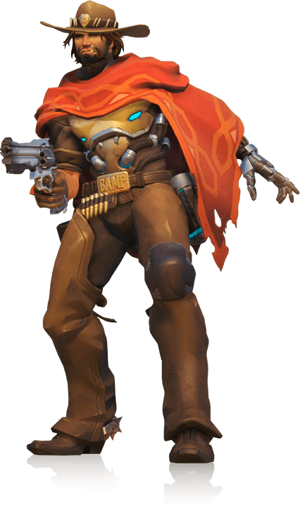 McCree Standing transparent PNG.