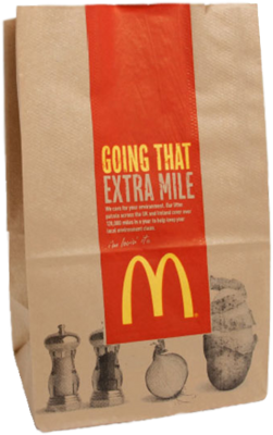 Free McDonald\'s Bag PSD Vector Graphic.