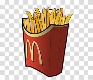 McDonald Recycle Bin, McDonald\'s fries transparent.