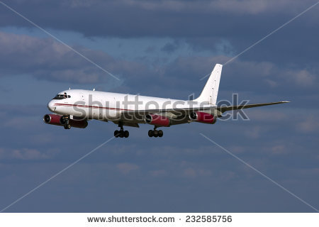 Unmarked Airplane Jet White Stock Images, Royalty.