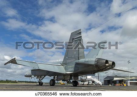 Stock Images of Rear view of RAAF McDonnell Douglas F/A.
