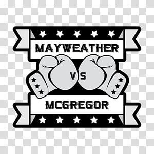 Floyd Mayweather Jr. vs. Conor McGregor Modern art Poster.