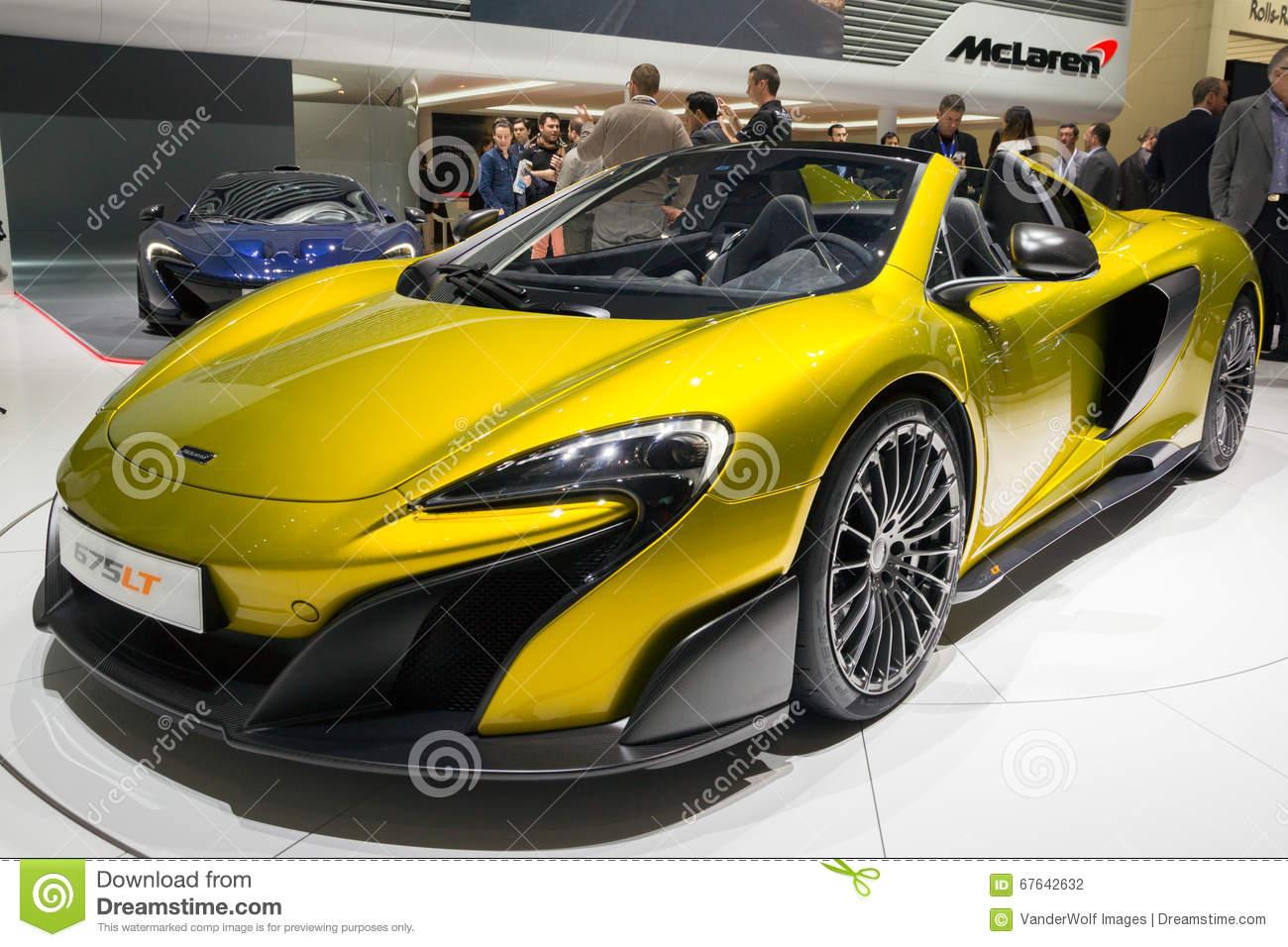 2016 McLaren 675LT Sports Car Editorial Photography.