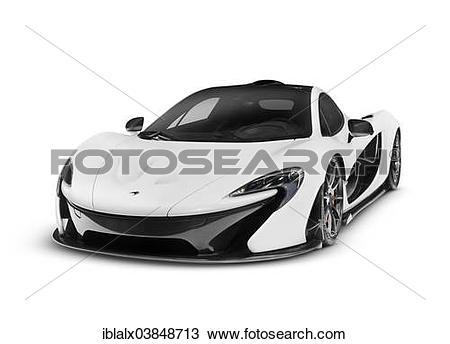 Stock Photo of White 2014 McLaren P1 plug.