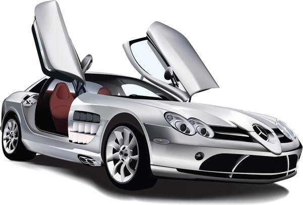 Mercedes Benz SLR McLaren Free vector in Adobe Illustrator ai.