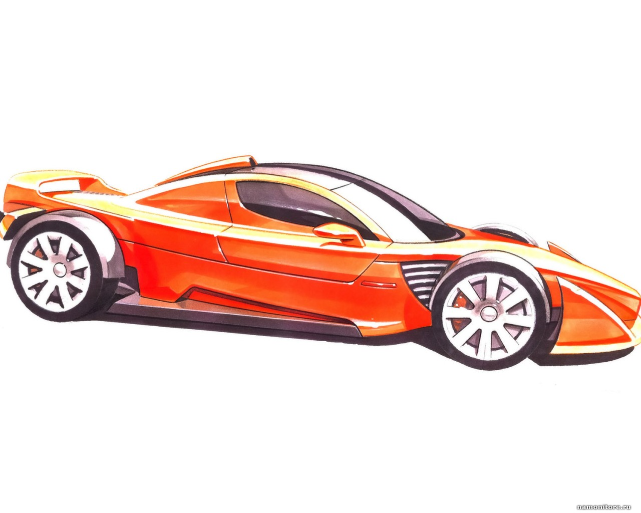 Clipart of super cars.