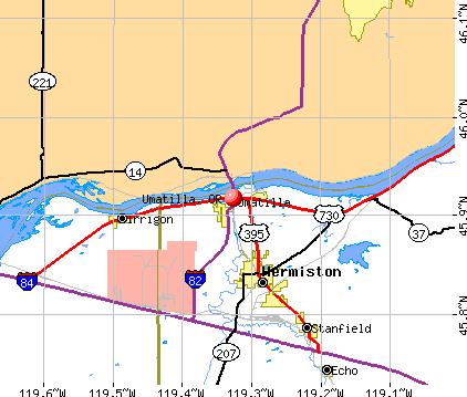 Umatilla, Oregon (OR 97882) profile: population, maps, real estate.