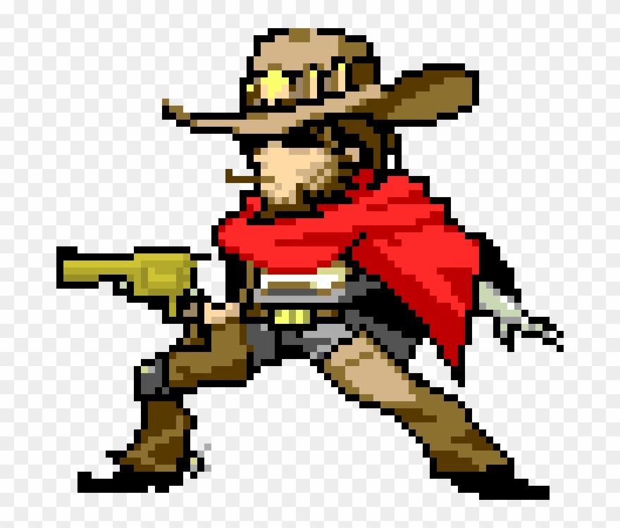 Overwatch Mccree Pixel Spray Clipart (#1419223).