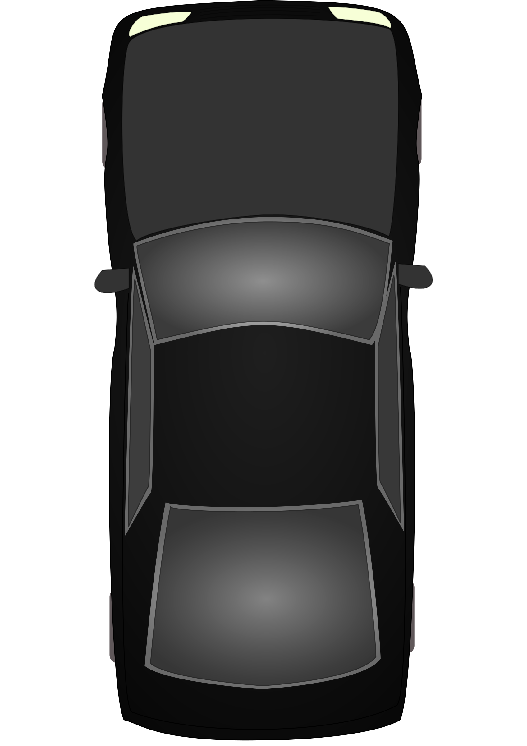 Car Top View Clipart.