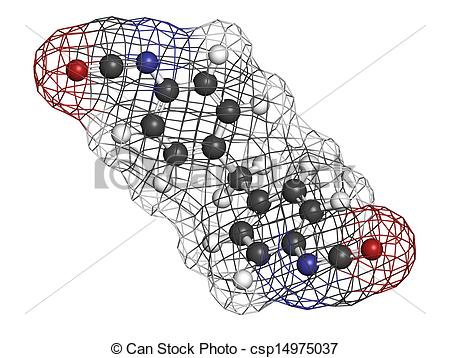 Drawings of Methylene diphenyl diisocyanate molecule (MDI.