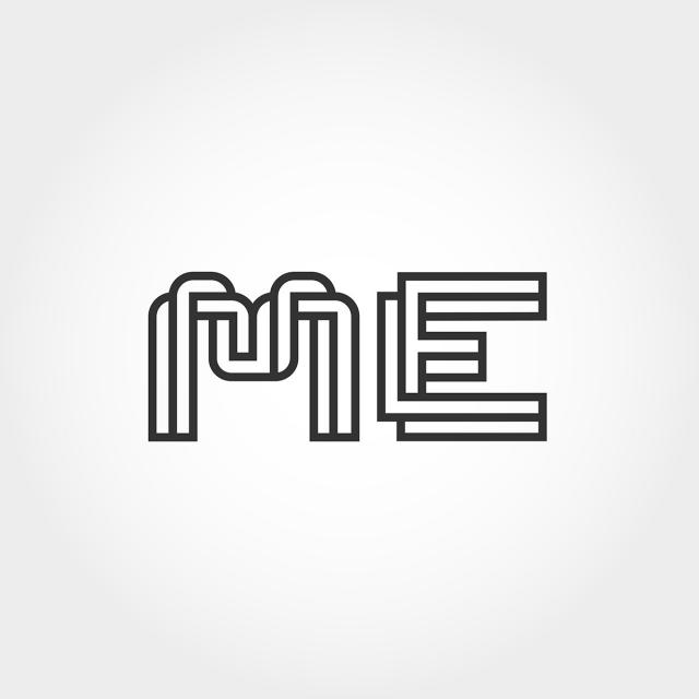 Initial Letter Me Logo Template Template for Free Download.