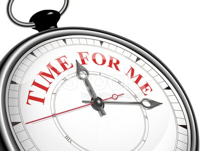 time for me concept clock Clipart Image.