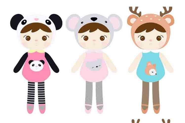 Cute Dolls Metoo dolls clipart.