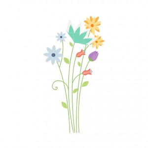 Meadow Flowers Clipart.