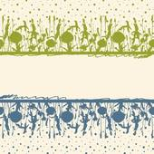 Clipart of Meadow herbs frame. k6390450.