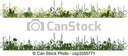 Vector Clip Art of Meadow.