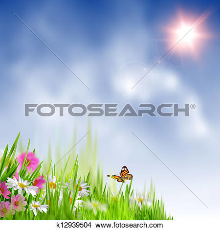 Drawings of Beauty summer meadow. Abstract natural backgrounds.