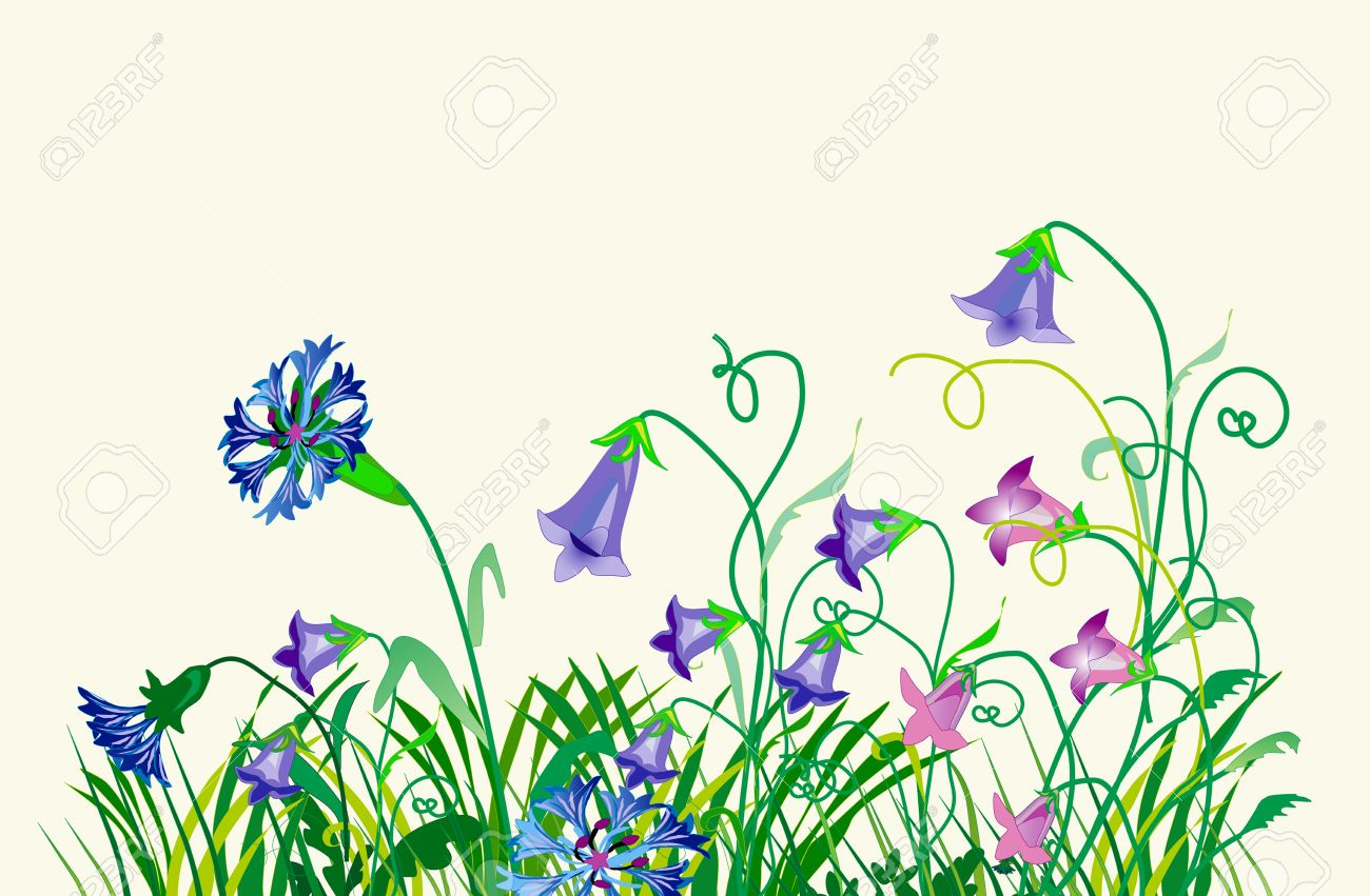 Wild Flowers Royalty Free Cliparts, Vectors, And Stock.