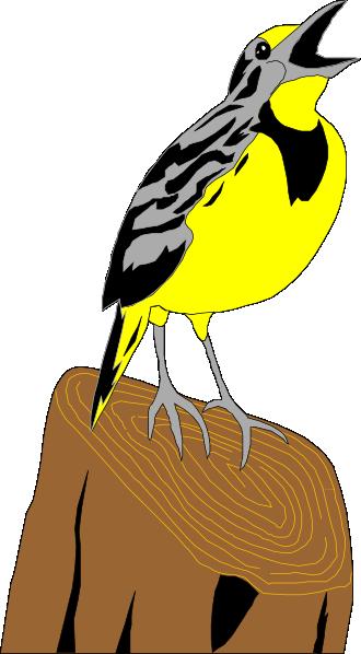 Meadowlark Clip Art at Clker.com.