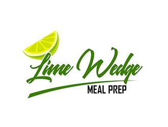 Lime Wedge meal prep logo design.