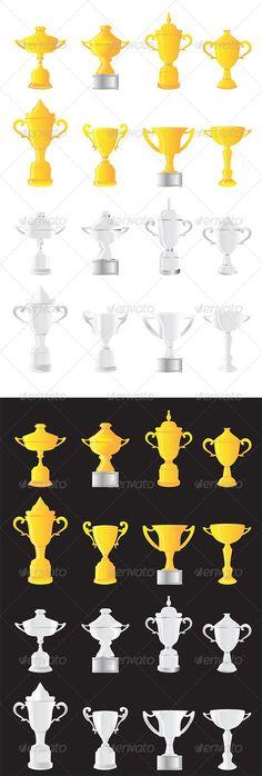 Transparent Gold Cup Trophy PNG Picture Clipart.