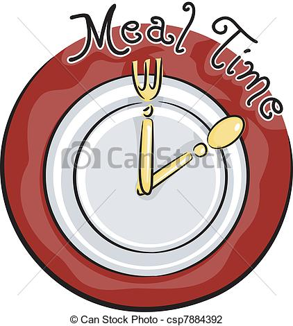 Vector Illustration of Meal Time.