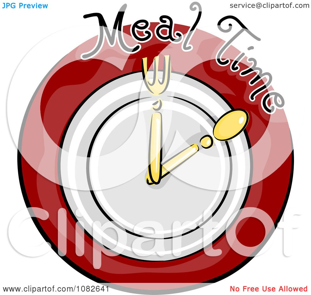 Clipart Meal Time Nutrition Clock Blog Icon.