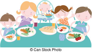 Mealtime Illustrations and Clip Art. 420 Mealtime royalty free.