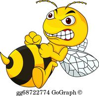 mean bee clipart #8