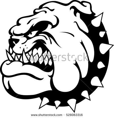 Angry Bulldog Clipart.
