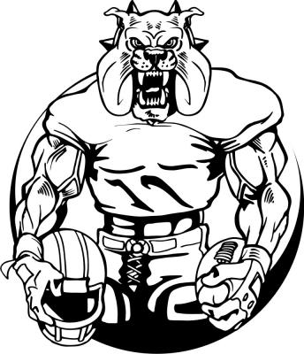Mean Bulldog Clipart.