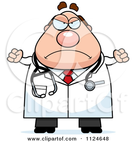 Mean Doctor Clipart.