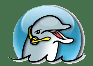 mean dolphin clipart #4